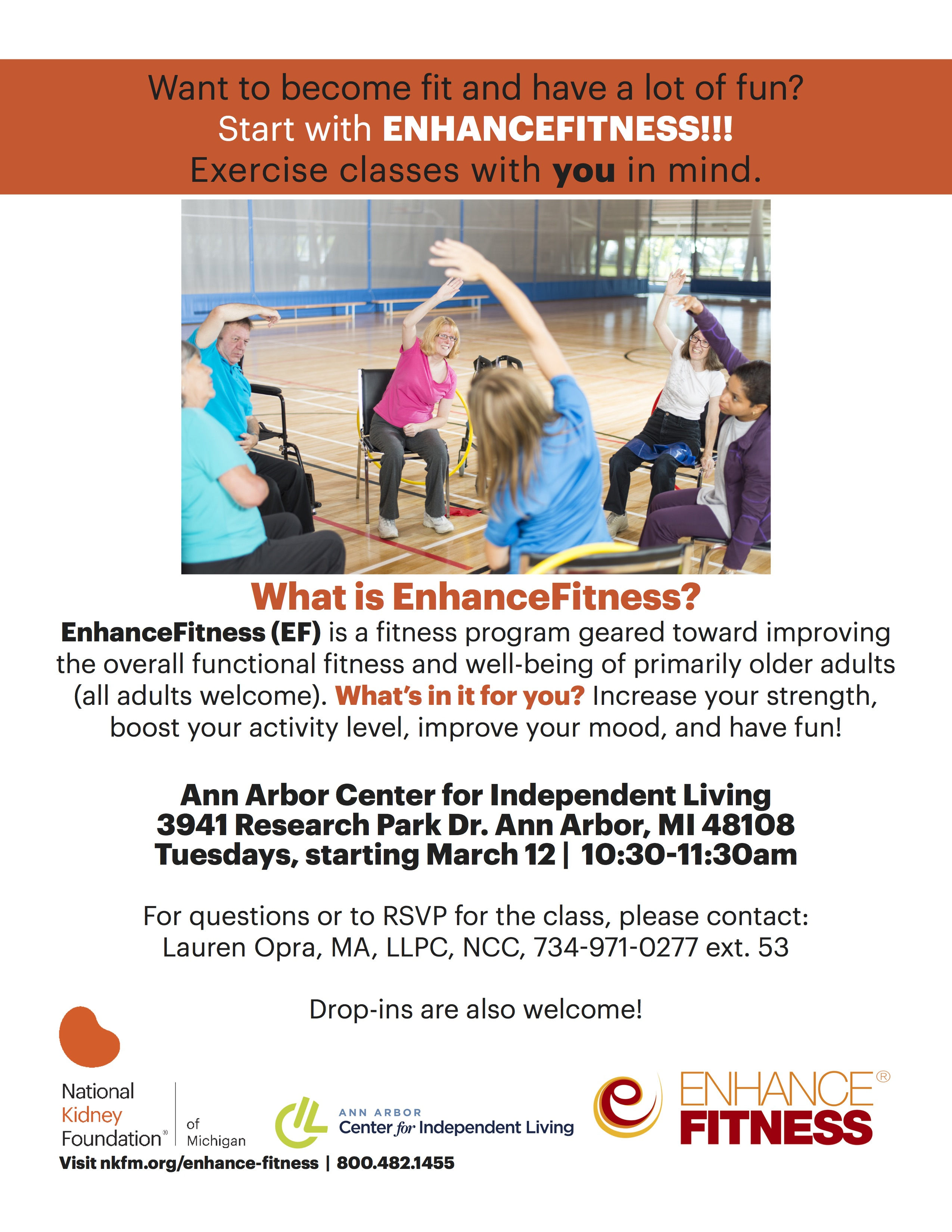 Exercise Class Starting March 12!