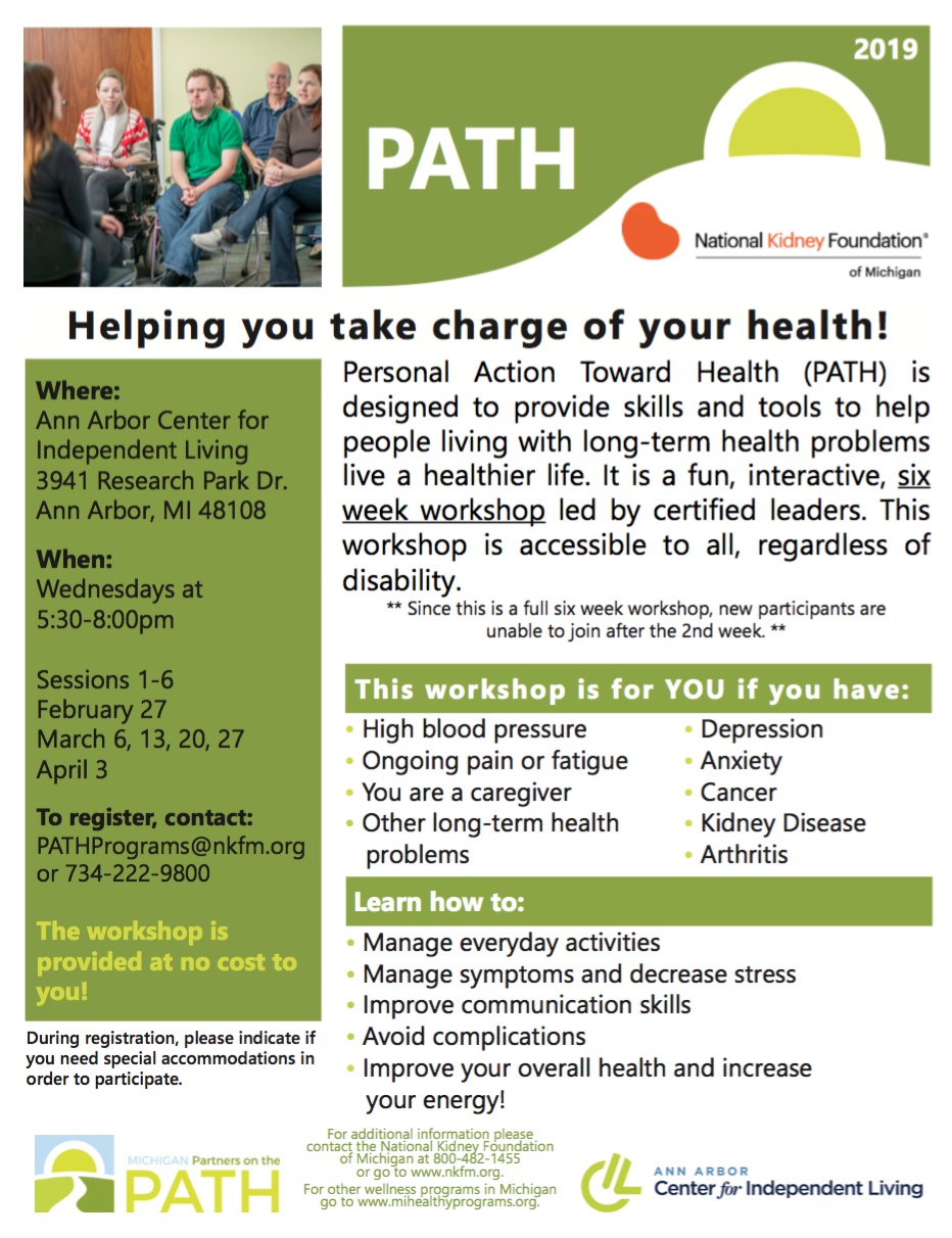 Living with a long-term health problem? Join us to take charge of your health