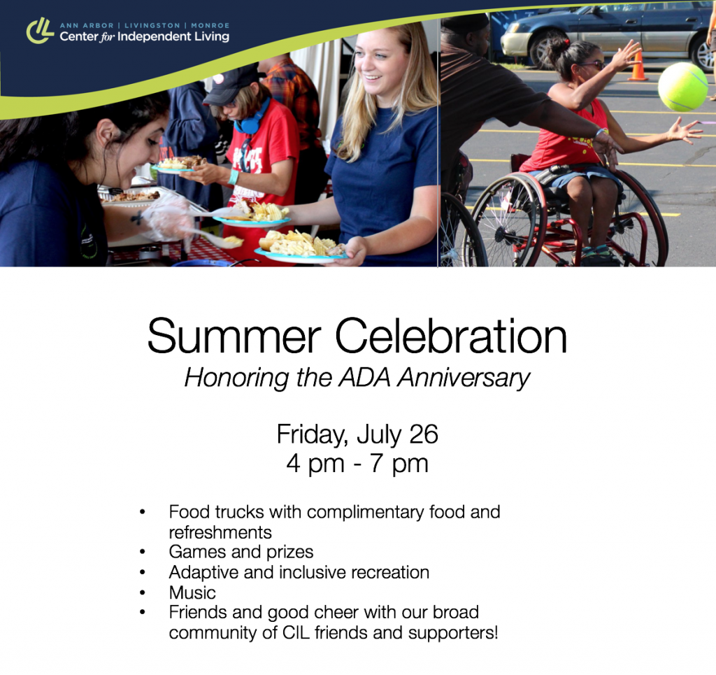 Summer Celebration Picnic Promo photo of dining and wheelchair basketball