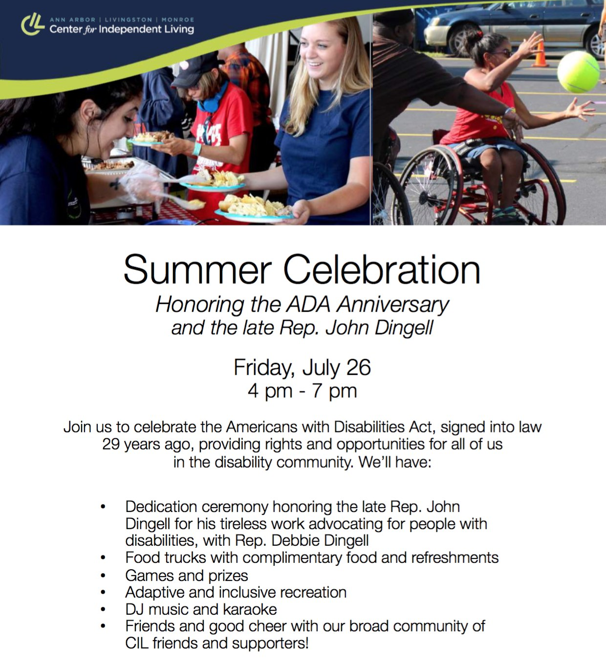 Join us for the Summer Celebration July 26!