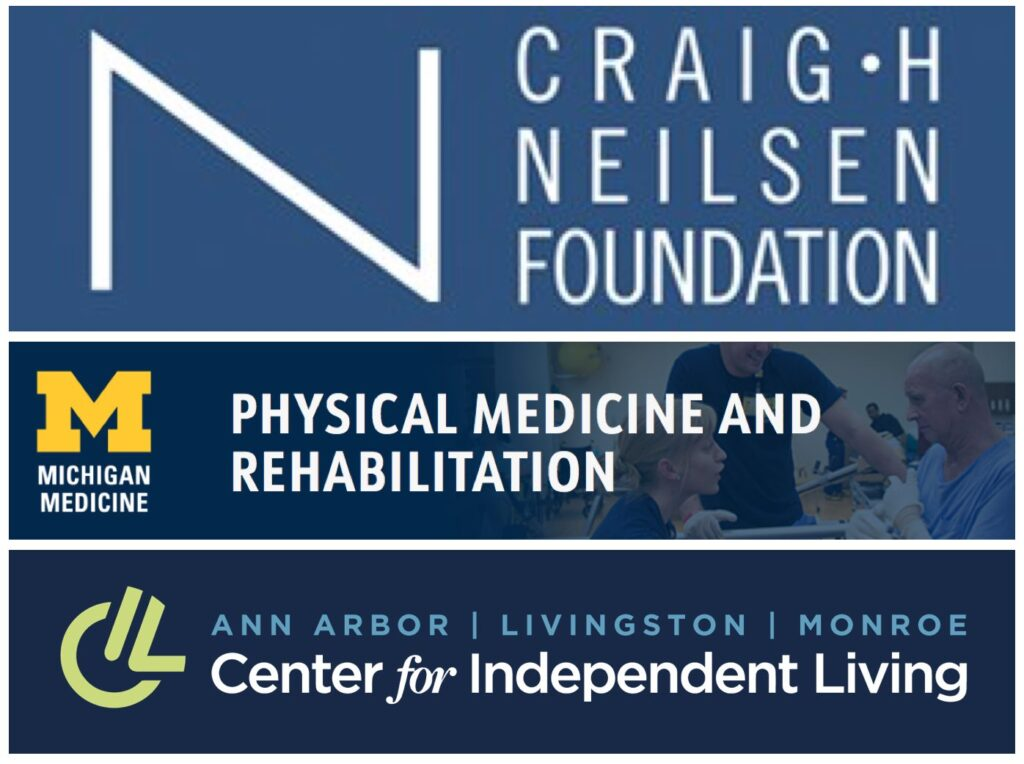 craig h neilsen foundation, U-M PMR, and AACIL logos