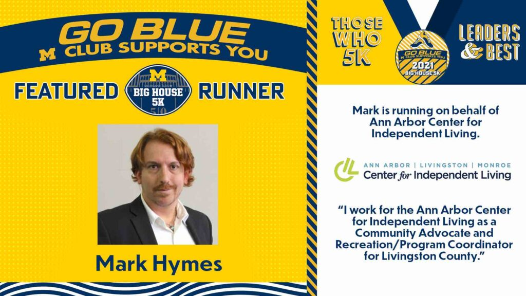 UM graphic of Mark Hymes